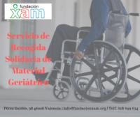 Recogida Solidaria de Material Geriátrico en Fundación XAM